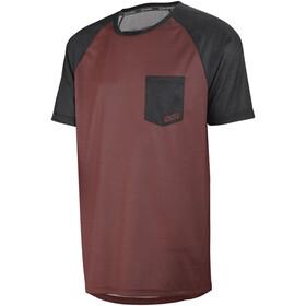 IXS Flow Fietsshirt korte mouwen Heren rood/zwart